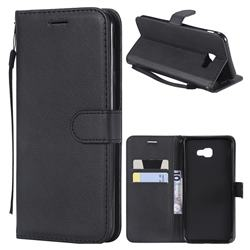 Retro Greek Classic Smooth PU Leather Wallet Phone Case for Samsung Galaxy J4 Plus(6.0 inch) - Black