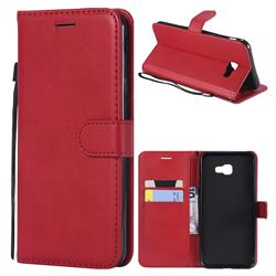 Retro Greek Classic Smooth PU Leather Wallet Phone Case for Samsung Galaxy J4 Plus(6.0 inch) - Red
