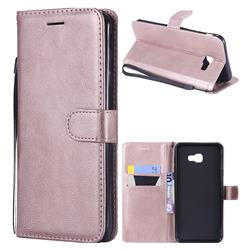 Retro Greek Classic Smooth PU Leather Wallet Phone Case for Samsung Galaxy J4 Plus(6.0 inch) - Rose Gold