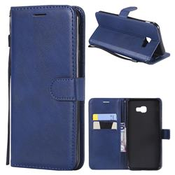 Retro Greek Classic Smooth PU Leather Wallet Phone Case for Samsung Galaxy J4 Plus(6.0 inch) - Blue