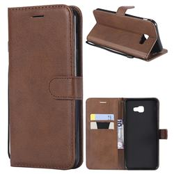 Retro Greek Classic Smooth PU Leather Wallet Phone Case for Samsung Galaxy J4 Plus(6.0 inch) - Brown