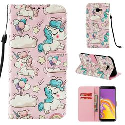 Angel Pony 3D Painted Leather Wallet Case for Samsung Galaxy J4 Plus(6.0 inch)