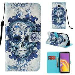 Cloud Kito 3D Painted Leather Wallet Case for Samsung Galaxy J4 Plus(6.0 inch)