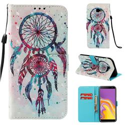 ColorDrops Wind Chimes 3D Painted Leather Wallet Case for Samsung Galaxy J4 Plus(6.0 inch)