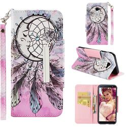 Angel Monternet Big Metal Buckle PU Leather Wallet Phone Case for Samsung Galaxy J4 Plus(6.0 inch)