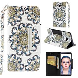 Phoenix Tail Big Metal Buckle PU Leather Wallet Phone Case for Samsung Galaxy J4 Plus(6.0 inch)