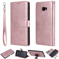 Retro Greek Detachable Magnetic PU Leather Wallet Phone Case for Samsung Galaxy J4 Plus(6.0 inch) - Rose Gold