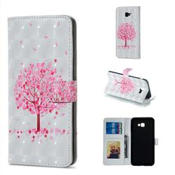 Sakura Flower Tree 3D Painted Leather Phone Wallet Case for Samsung Galaxy J4 Plus(6.0 inch)