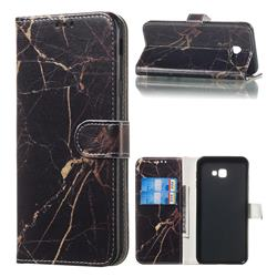 Black Gold Marble PU Leather Wallet Case for Samsung Galaxy J4 Plus(6.0 inch)