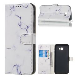 Soft White Marble PU Leather Wallet Case for Samsung Galaxy J4 Plus(6.0 inch)