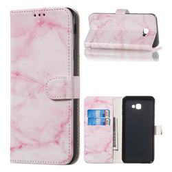 Pink Marble PU Leather Wallet Case for Samsung Galaxy J4 Plus(6.0 inch)