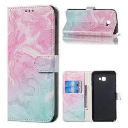 Pink Green Marble PU Leather Wallet Case for Samsung Galaxy J4 Plus(6.0 inch)