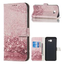 Glittering Rose Gold PU Leather Wallet Case for Samsung Galaxy J4 Plus(6.0 inch)