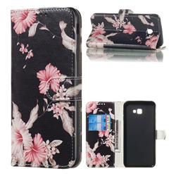 Azalea Flower PU Leather Wallet Case for Samsung Galaxy J4 Plus(6.0 inch)