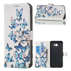 Blue Vivid Butterflies PU Leather Wallet Case for Samsung Galaxy J4 Plus(6.0 inch)