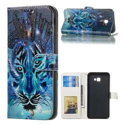 Ice Wolf 3D Relief Oil PU Leather Wallet Case for Samsung Galaxy J4 Plus(6.0 inch)