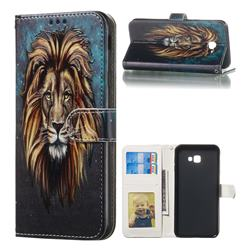Ice Lion 3D Relief Oil PU Leather Wallet Case for Samsung Galaxy J4 Plus(6.0 inch)
