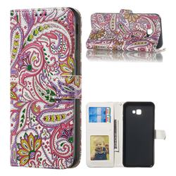 Pepper Flowers 3D Relief Oil PU Leather Wallet Case for Samsung Galaxy J4 Plus(6.0 inch)