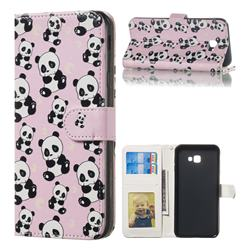 Cute Panda 3D Relief Oil PU Leather Wallet Case for Samsung Galaxy J4 Plus(6.0 inch)