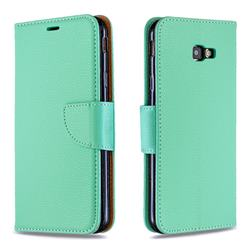 Classic Luxury Litchi Leather Phone Wallet Case for Samsung Galaxy J4 Plus(6.0 inch) - Green