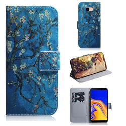 Apricot Tree PU Leather Wallet Case for Samsung Galaxy J4 Plus(6.0 inch)