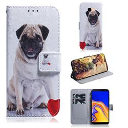 Pug Dog PU Leather Wallet Case for Samsung Galaxy J4 Plus(6.0 inch)