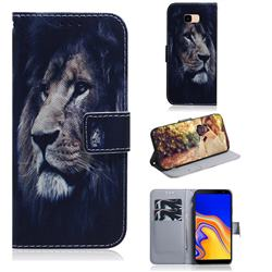 Lion Face PU Leather Wallet Case for Samsung Galaxy J4 Plus(6.0 inch)