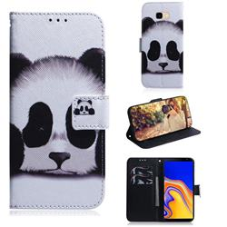 Sleeping Panda PU Leather Wallet Case for Samsung Galaxy J4 Plus(6.0 inch)