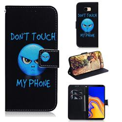 Not Touch My Phone PU Leather Wallet Case for Samsung Galaxy J4 Plus(6.0 inch)