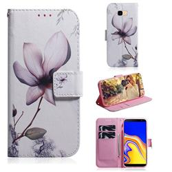 Magnolia Flower PU Leather Wallet Case for Samsung Galaxy J4 Plus(6.0 inch)