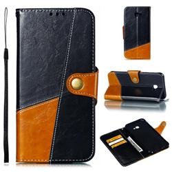 Retro Magnetic Stitching Wallet Flip Cover for Samsung Galaxy J4 Plus(6.0 inch) - Black