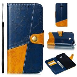 Retro Magnetic Stitching Wallet Flip Cover for Samsung Galaxy J4 Plus(6.0 inch) - Blue