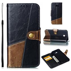 Retro Magnetic Stitching Wallet Flip Cover for Samsung Galaxy J4 Plus(6.0 inch) - Dark Gray
