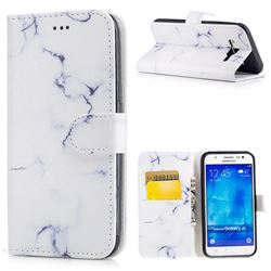 Soft White Marble PU Leather Wallet Case for Samsung Galaxy J5 2015 J500