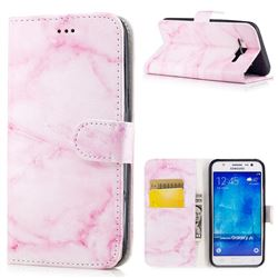 Pink Marble PU Leather Wallet Case for Samsung Galaxy J5 2015 J500