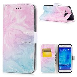 Pink Green Marble PU Leather Wallet Case for Samsung Galaxy J5 2015 J500
