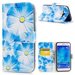 Orchid Flower PU Leather Wallet Case for Samsung Galaxy J5 2015 J500