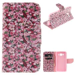 Intensive Floral PU Leather Wallet Case for Samsung Galaxy J5 2015 J500