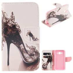 High Heels PU Leather Wallet Case for Samsung Galaxy J5 2015 J500