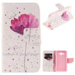 Purple Orchid PU Leather Wallet Case for Samsung Galaxy J5 2015 J500