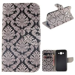 Totem Flowers PU Leather Wallet Case for Samsung Galaxy J5 2015 J500