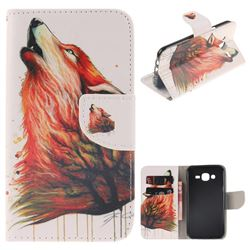 Color Wolf PU Leather Wallet Case for Samsung Galaxy J5 2015 J500