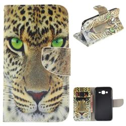 Yellow Tiger PU Leather Wallet Case for Samsung Galaxy J5 2015 J500