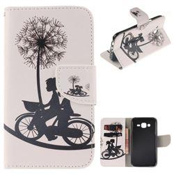 Cycling Dandelion PU Leather Wallet Case for Samsung Galaxy J5 2015 J500