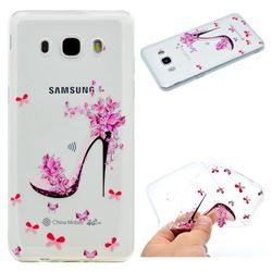 Petal High Heels Super Clear Soft TPU Back Cover for Samsung Galaxy J5 2016 J510