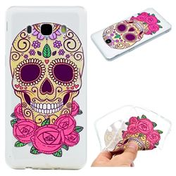 Skeleton Flower Super Clear Soft TPU Back Cover for Samsung Galaxy J5 2016 J510