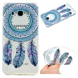Blue Feather Campanula Super Clear Soft TPU Back Cover for Samsung Galaxy J5 2016 J510