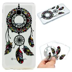 Feather Black Wind Chimes Super Clear Soft TPU Back Cover for Samsung Galaxy J5 2016 J510
