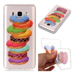 Melaleuca Donuts Super Clear Soft TPU Back Cover for Samsung Galaxy J5 2016 J510
