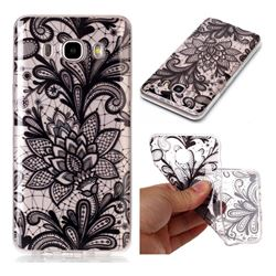 Black Rose Super Clear Soft TPU Back Cover for Samsung Galaxy J5 2016 J510
